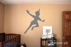 Peter Pan Wall Decal Nursery Wall Decal Kids Room Wall Etsy