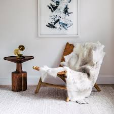 animal skin rugs and throws are making