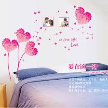 H20113 Pink Love Living Room Tv Background Walls Bedroom Romantic Removable Wall Sticker 8090jewelry Com