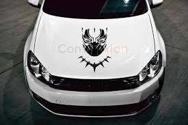 Black Panther Hood Decal 23 Multi Use Vinyl Sticker Etsy