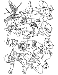 Mega Pokemon Group Coloring Pages