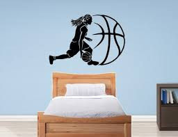 Basketball Decal Basketball Wall Decal Sports Decal Etsy