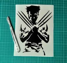 Home Garden Decor Decals Stickers Vinyl Art Wolverine Marvel Avengers Vinyl Decal Sticker Car Van Wall Laptop 20cm X 14 5cm