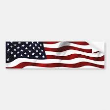 Waving American Flag Bumper Sticker Zazzle Com