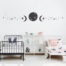 Moon Phases Wall Decals Star Moon Vinyl Sticker Modern Decoration Zodiac Murals Art Wallpaper Waterproof 2148 Wall Stickers Aliexpress
