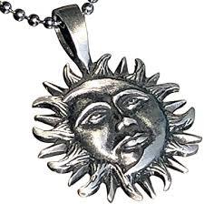 jewelry sun moon face eclipse symbol of