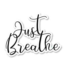 Just Breathe Sticker Decal Vinyl For Laptop Tumbler Car Notebook Window Or Wall Funny Novelty Decals Walmart Com Walmart Com
