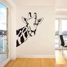 Giraffe Head Wall Stickers Mural Jungle Wild Animal Home Decor Vinyl Waterproof Wall Decals Kids Room Bedroom Decoration J038 Wall Stickers Aliexpress