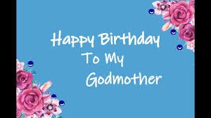 Happy Birthday To My Godmother Youtube