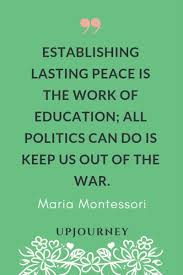 best maria montessori quotes about education children life