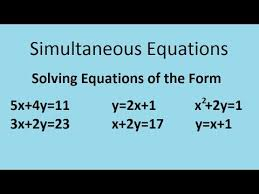 simultaneous equations the complete