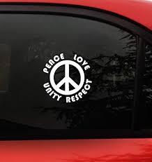Amazon Com Plur Peace Sign Decal Sticker Edm Peace Love Unity Respect Size 5 2 X 5 2 Inch Vinyl For Car Window Wall Laptop P L U R Edm Rave Arts Crafts Sewing