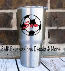 Personalized Soccer Ball Cup Decal Self Expressions Decals More