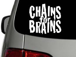 Chains For Brains Disc Golf Decal Sticker 6 And 50 Similar Items
