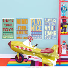 House Rules Kids Room Wall Decal Set At Retro Planet