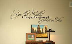Chocolate Wine Wall Decals Trading Phrases
