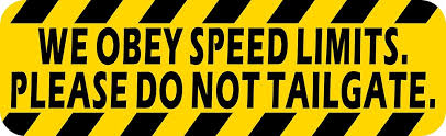 Amazon Com Stickertalk Please Do Not Tailgate Vinyl Sticker 10 Inches By 3 Inches Office Products