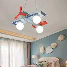 Kwoking Lighting Modern Cartoons Pendant Lights Girls Boys Adjustable Ceiling Chandelier Children Bedroom Lights Kids Hanging Lighting Sky Aircraft Shape 3 Lights Amazon Com