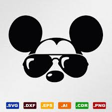 Mickey Mouse Sunglasses Svg Dxf Eps Ai Cdr Vector Files