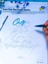 trace your own frozen calligraphy positivelee peilin