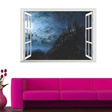 Magic Harry Potter Wall Stickers Poster 3d Window Hogwarts Decorative Small For Sale Online Ebay