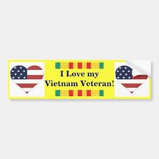 I Love My Vietnam Veteran Bumper Sticker Zazzle Com