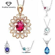 fruitful luxurious sapphire pendant