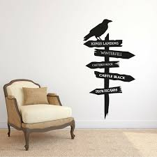 Game Of Thrones Road Sign Wall Decal Sticker Removable Wall Art Ebay