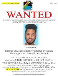terrance johnson wanted - Greensboro/Guilford Crime Stoppers