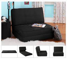 Your Zone Black Flip Chair Available In Multiple Colors Walmart Com Walmart Com