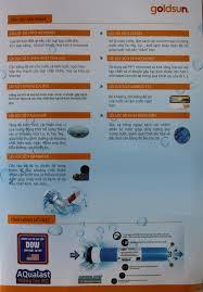 Máy Lọc Nước RO 9 Cấp Lõi Lọc Goldsun Gold FA1602 Vỏ Tủ Đỏ - Chính Hãng - Máy  lọc nước có điện