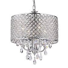 drum shade 4light crystal chandelier