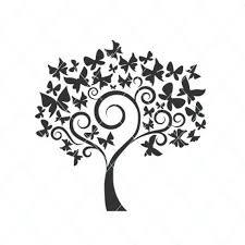 Butterfly Tree Svg Butterfly Cut File Tree And Butterfly Etsy