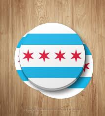 Chicago Flag Sticker Chicago Flag Car Window Decal Chicago Etsy