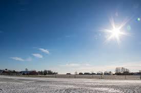 sunlight sea sky snow winter