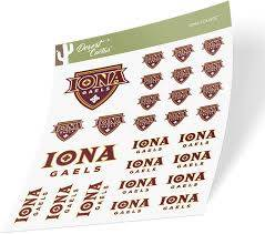 Amazon Com Iona College Gaels Ncaa Sticker Vinyl Decal Laptop Water Bottle Car Scrapbook Type 1 1 Sheet Arts Crafts Sewing