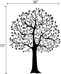 Large Family Tree Wall Sticker Fashion Home Decoration Modern Tree Wall Decals Beautiful Adhesive Vinyl Wall Art Tree Murals Mural Art Art Facearts And Crafts Print Aliexpress