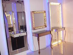 hair salon mirror station light up