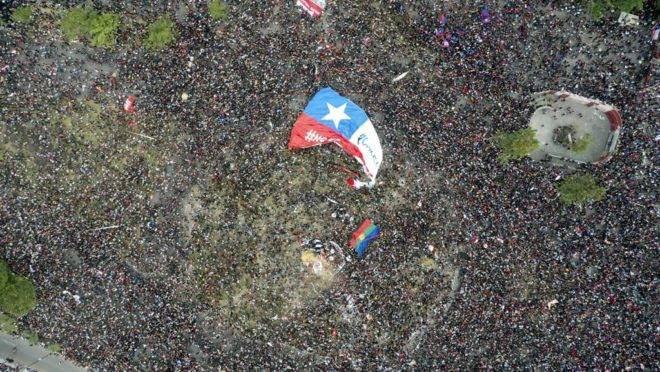 """Resultado de imagem para protestos no chile 2019"""""""