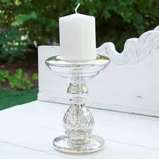 mercury glass pillar candle holder 7