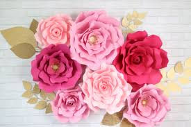 paper flowers by hand or with a cricut