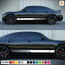Amazon Com Gold Fish Decals Racing Side Stripe Kit Sticker Decal Compatible With Dodge Charger Se Sxt R T Srt8 Automotive