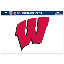 Wisconsin Badgers Official Ncaa 11 Inch X 17 Inch Car Window Cling Decal By Wincraft Walmart Com Walmart Com