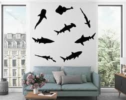 Shark Wall Decals Etsy