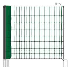 Voss Farming Classic 25m Chicken Fence Poultry Netting 112cm 9 Posts 2 Spikes Green