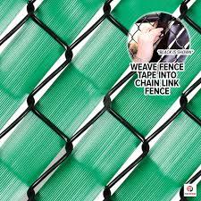 Fenpro Chain Link Fence Privacy Tape Emerald Green Amazon Ca Patio Lawn Garden