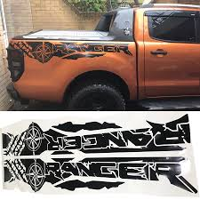 Tire Print Compass Adventure Off Road Vinyl Graphics Decals Car Stickers Fit For Ford Ranger And Wildtrack Bed Box Car Stickers Aliexpress