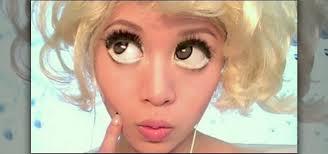 bad romance big eye makeup look