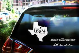 State Car Window Decal Any Of The 50 States Customized Back Car Decal Personalized Sticker Create Y Personalized Stickers Coloring Stickers Car Window Decals