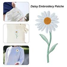 Daisy Flower Patch Delicate Embroidered Sew Fabric Stickers Decals For Diy Decoration T Shirt Backpack Hoodies Shoes Bags Walmart Com Walmart Com